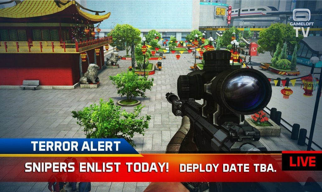 Sniper Fury is to be Gameloft's entry in the sharpshooting craze, out on November 19th