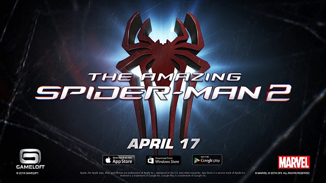 The Amazing Spider-Man 2 will swing onto iOS, Android, and Windows Phone on April 17th