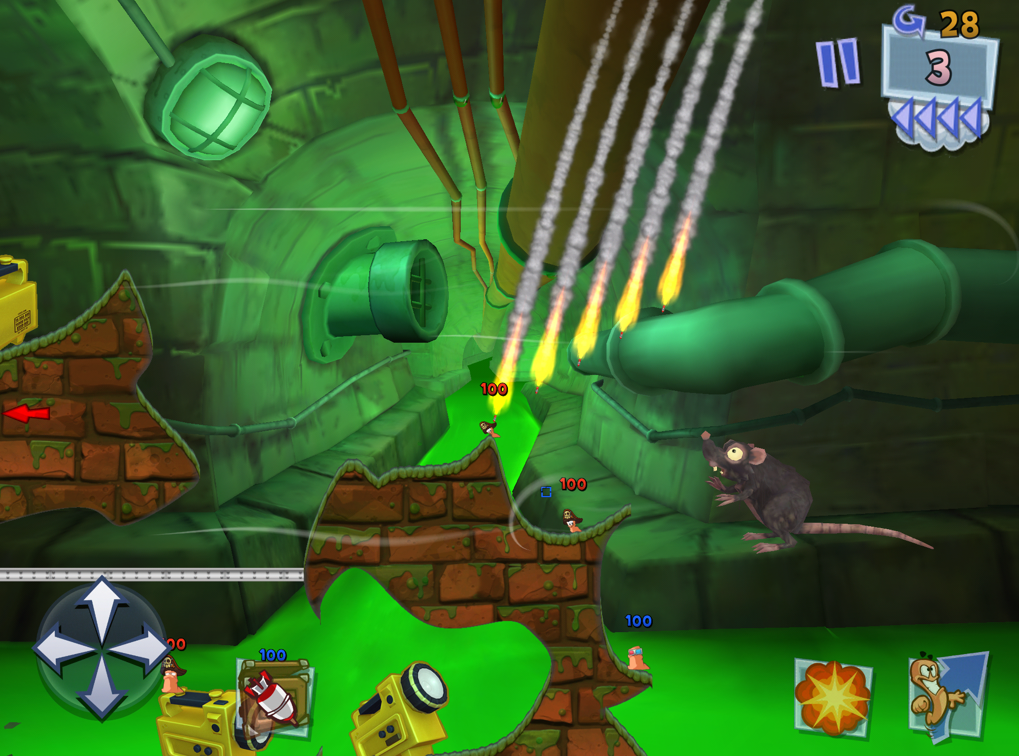 Worms 3, the Silver Award-winning joke-riddled tactical blaster, is on sale right now for iPad and iPhone