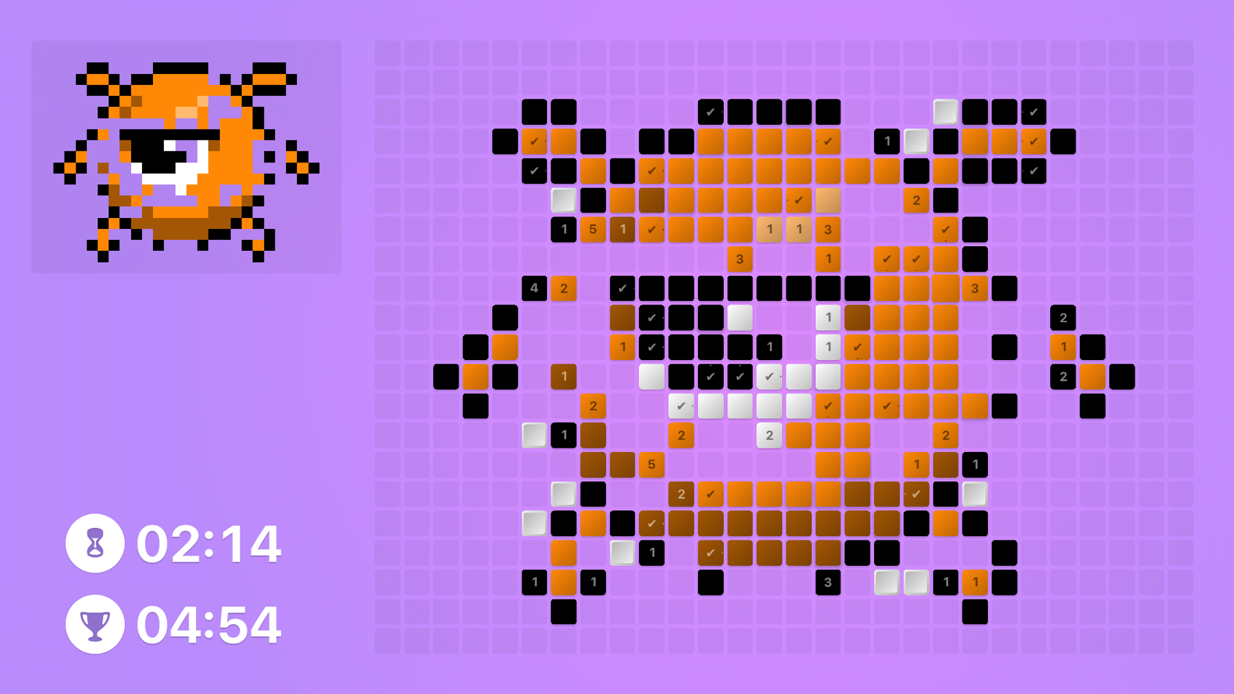 Use tiles to create some gorgeous pixel art in puzzler