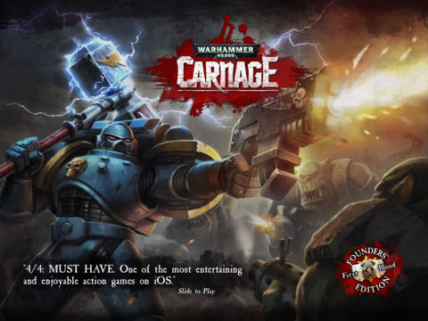 Warhammer 40,000: Carnage has been updated with a new Space Wolf character and some killer drones on iOS and Android