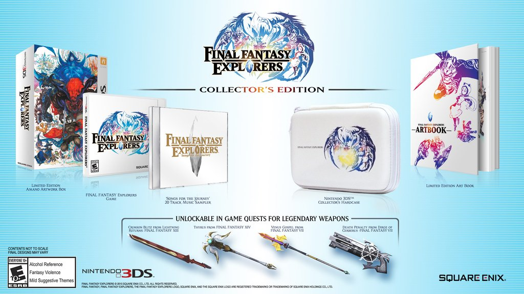 Final Fantasy Explorers to get a Collector's Edition when it comes out in the west