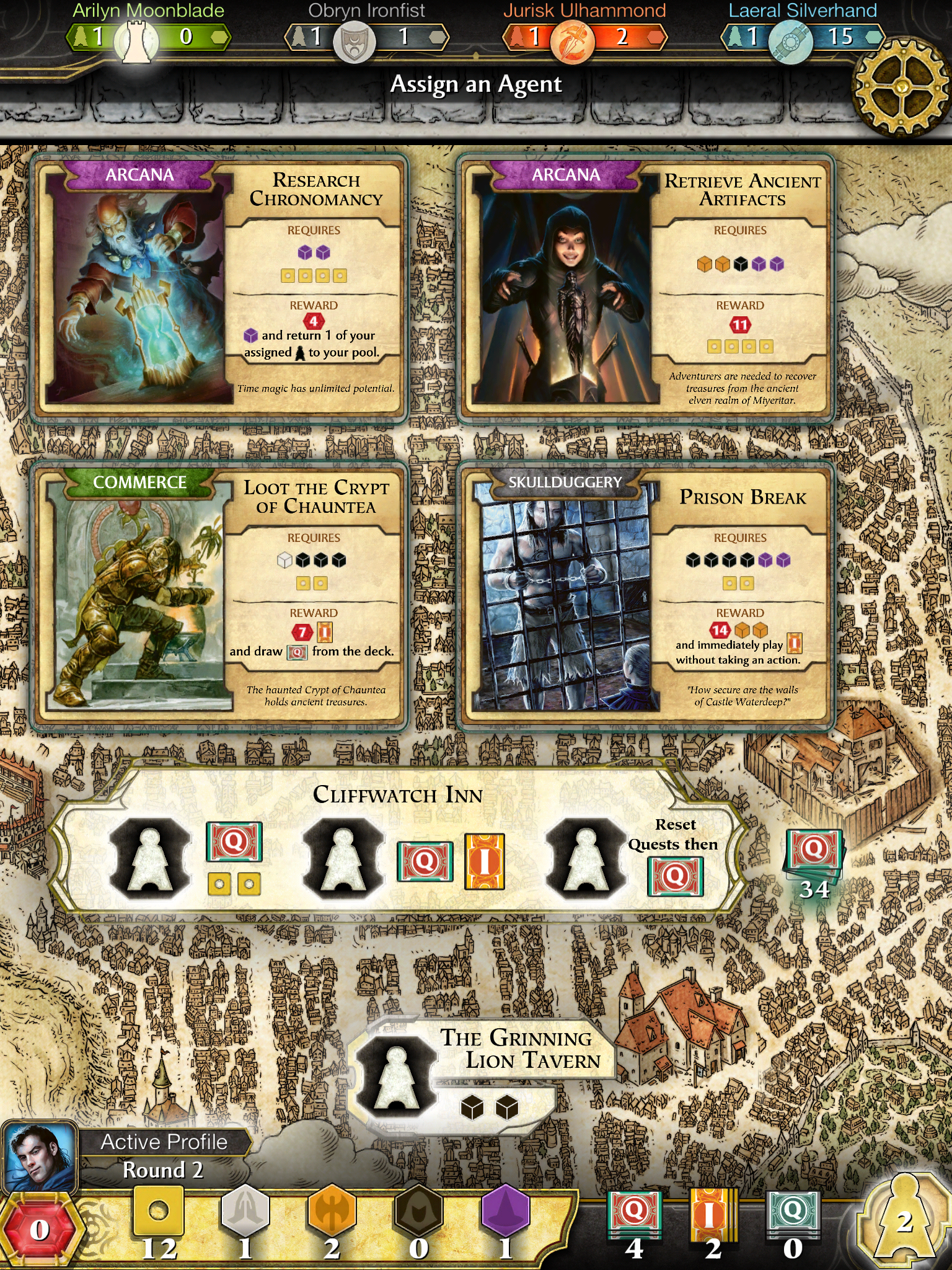 Digital boardgame D&D Lords of Waterdeep is now half price on iOS for a limited time
