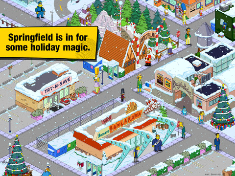 The Simpsons: Tapped Out shows some festive cheer in Christmas update