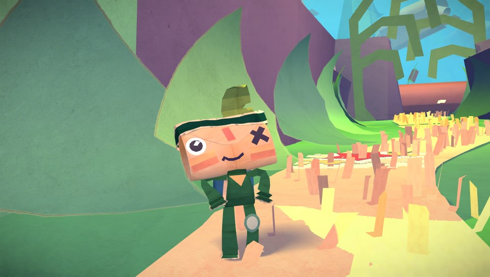 Papercraft platformer Tearaway started life as a dungeon-crawler