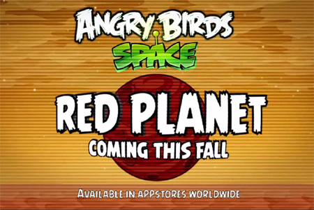 Red Planet update for Angry Birds Space goes live today