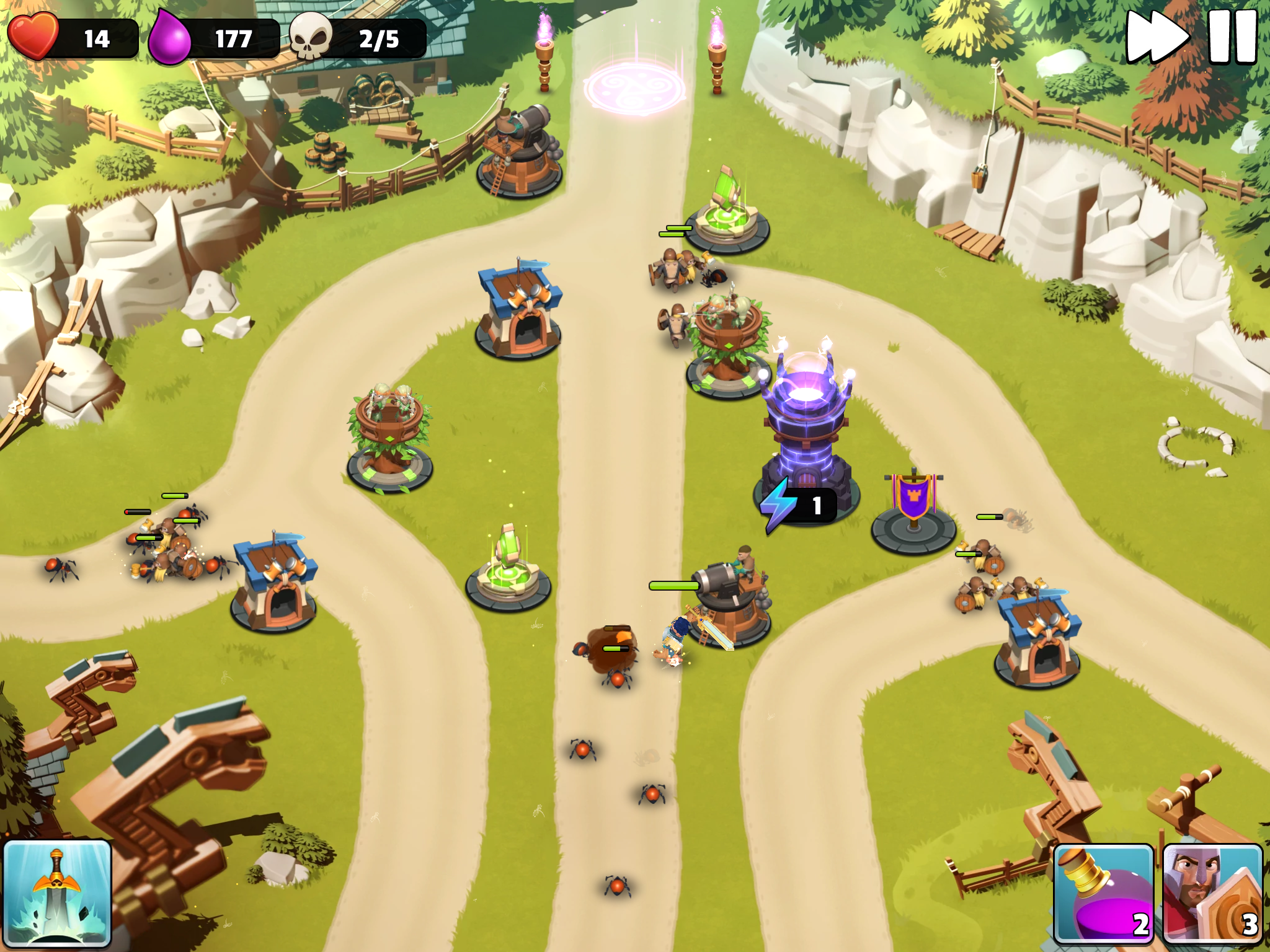 Castle Creeps TD review - A highly polished tower defence game