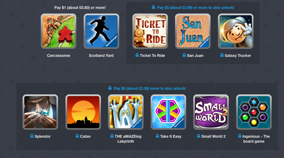 The latest Humble Mobile Bundle features a whole bunch of boardgame adaptations