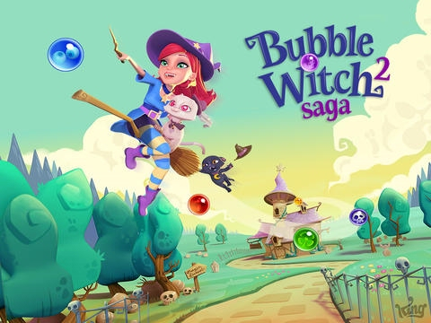 Bubble Witch Saga 2, King's bubble blasting puzzle sequel, is out right now for iOS and Android