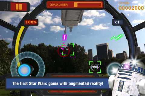 Augmented reality Star Wars Arcade: Falcon Gunner out now on iPhone