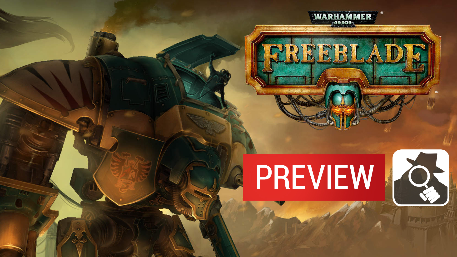 Guns, missiles, and massive chainswords: see Warhammer 40,000: Freeblade in action