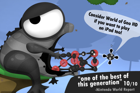 iPhone and iPad versions of physics-puzzler World of Goo on sale for 69p/99c until Sunday