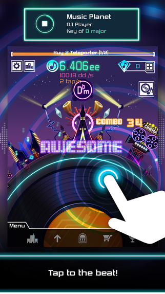 Groove Planet has you build a dancing city with your rhythm-matching skills
