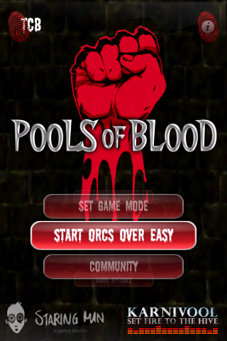 Pools of Blood pouring out onto the iPhone