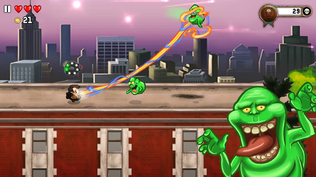 Ghostbusters update for Monster Dash lets you play as Dr. Peter Venkman and suck up Slimers
