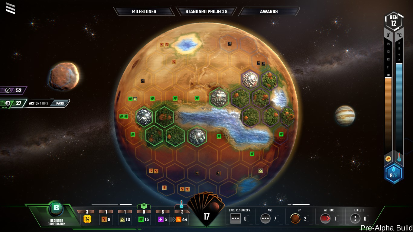Terraforming Mars is a sci-fi strategy title based on the board game for iOS and Android