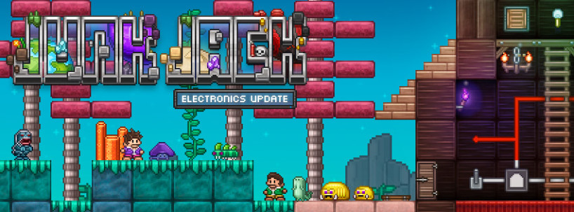Junk Jack X update adds electronics and a new aquatic world with unique monsters