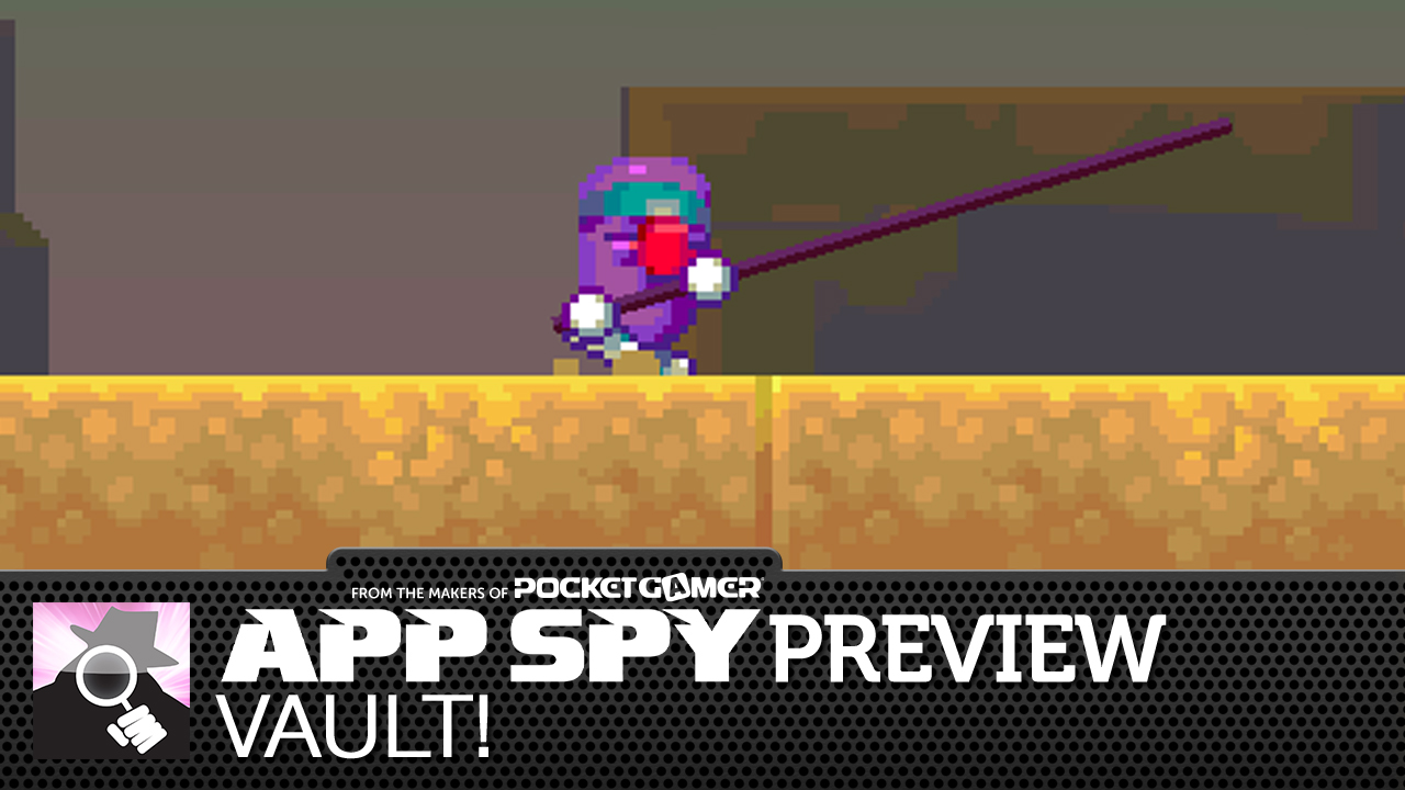 Vault! is Nitrome's new endless vaulter, and this preview video explains why it's wonderful