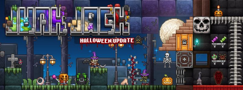 Junk Jack X gets spooky with a Halloween themed update