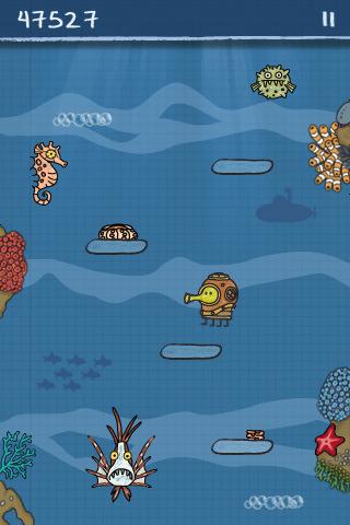 Doodle Jump 1.22 'mini update' adds Underwater monsters, Retina display graphics
