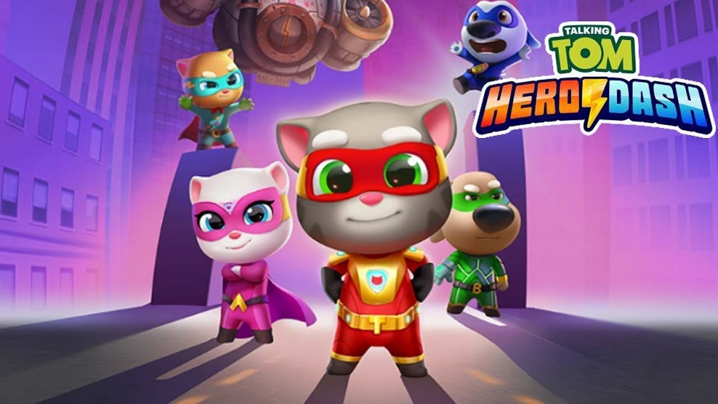 Pre-register now for Talking Tom Hero Dash, an action-packed superhero-themed runner