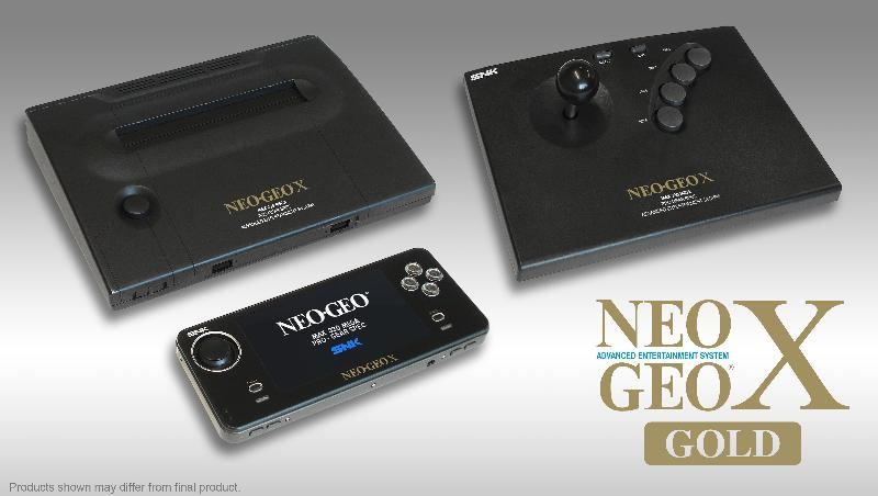 NeoGeo X Gold handheld with 20 pre-installed games coming this December for $199.99