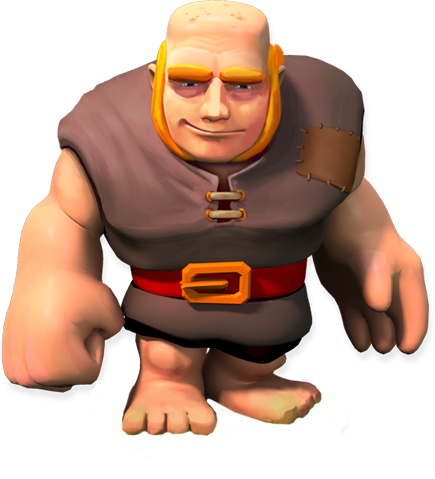 Giant soldier stats and troop tactics in clash of clans features