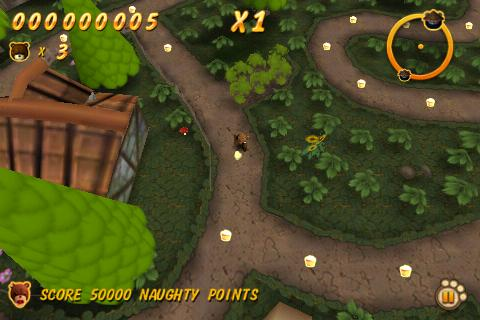 Naughty Bear on iPhone goes free for a day