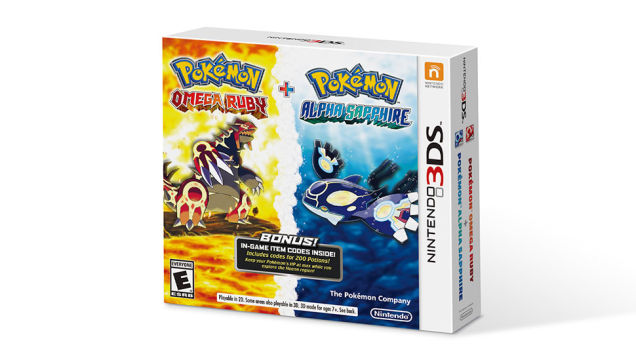 The Pokémon Omega Ruby and Alpha Sapphire Dual Pack doubles the fun