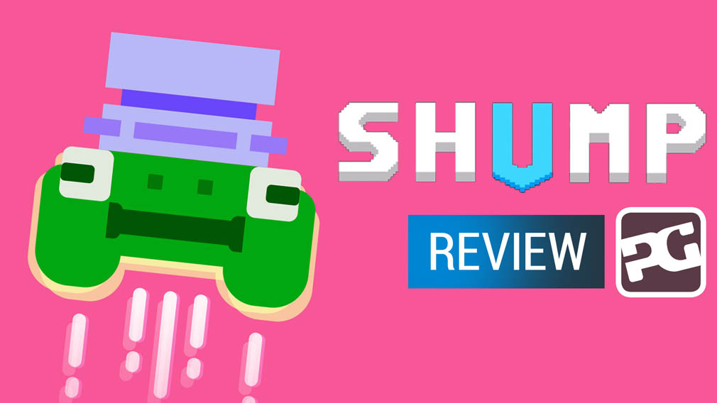 "SHUMP video review ""A pure arcade shooter with one foot in the 80s"""