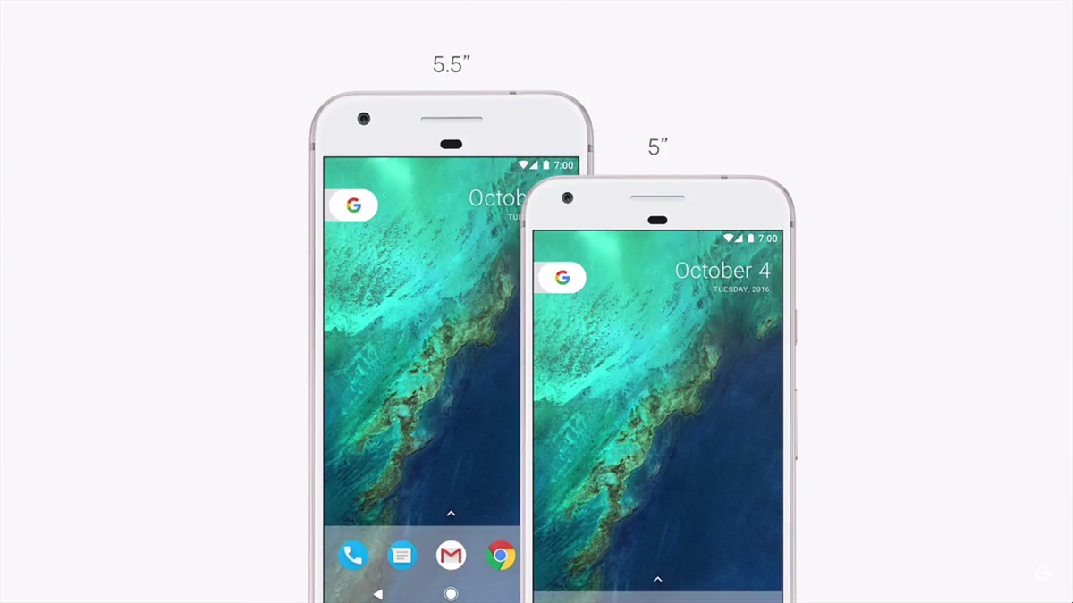 Google keynote: introducing their new smartphones, Pixel and Pixel XL