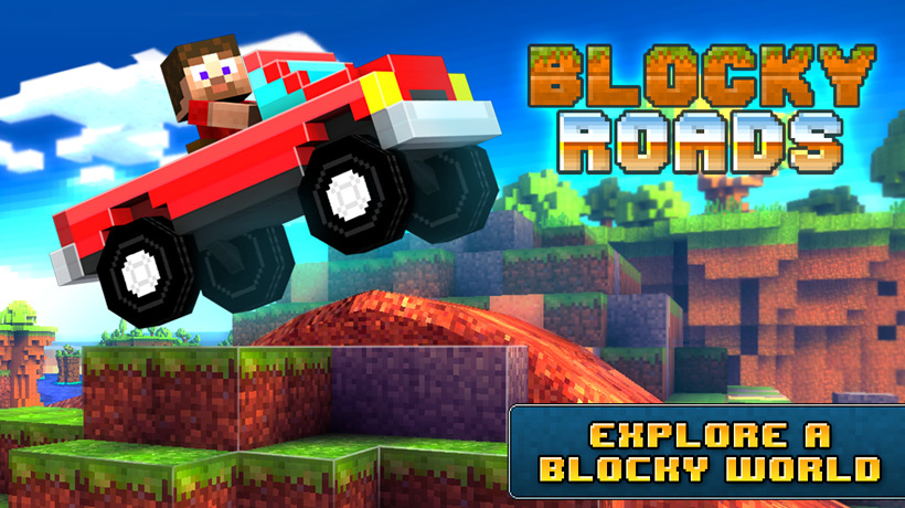 Blocky Roads is Minecraft-meets-Trials, and now available for iPhone and iPad