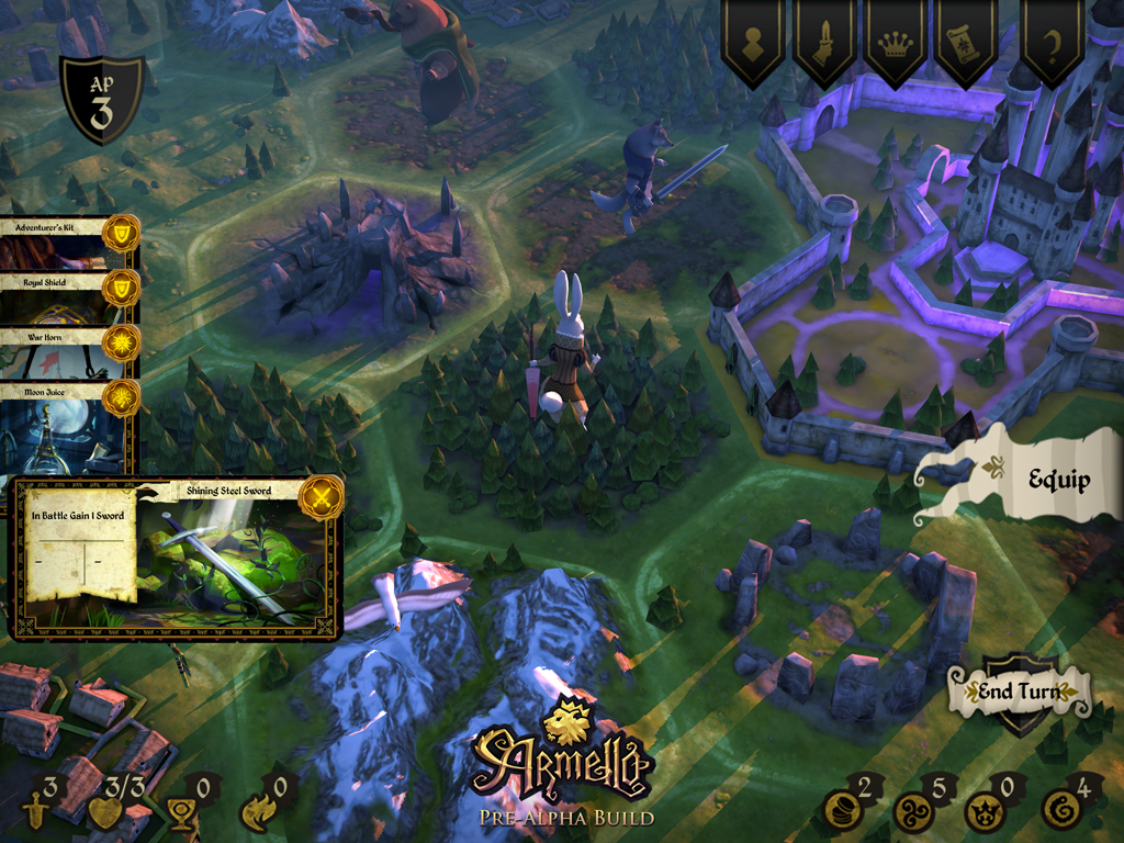 Kickstart this: Armello is a beautiful digital boardgame about animals fighting for the throne