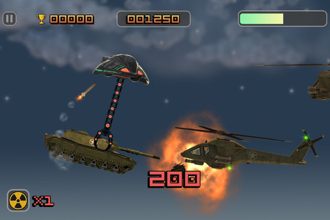 Abduct cows and destroy puny human tanks with your UFO's enormous