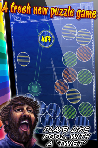 Gold Award-winning puzzler Magnetic Billiards: Blueprint is now free on the App Store
