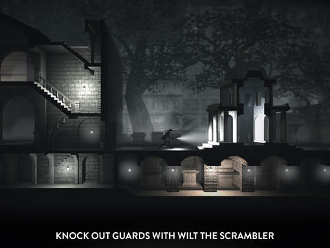 Moody monochrome stealth game Calvino Noir sneaks onto the iOS App Store