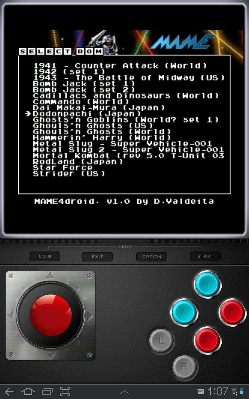 Arcade emulator MAME4droid hits the Android Market