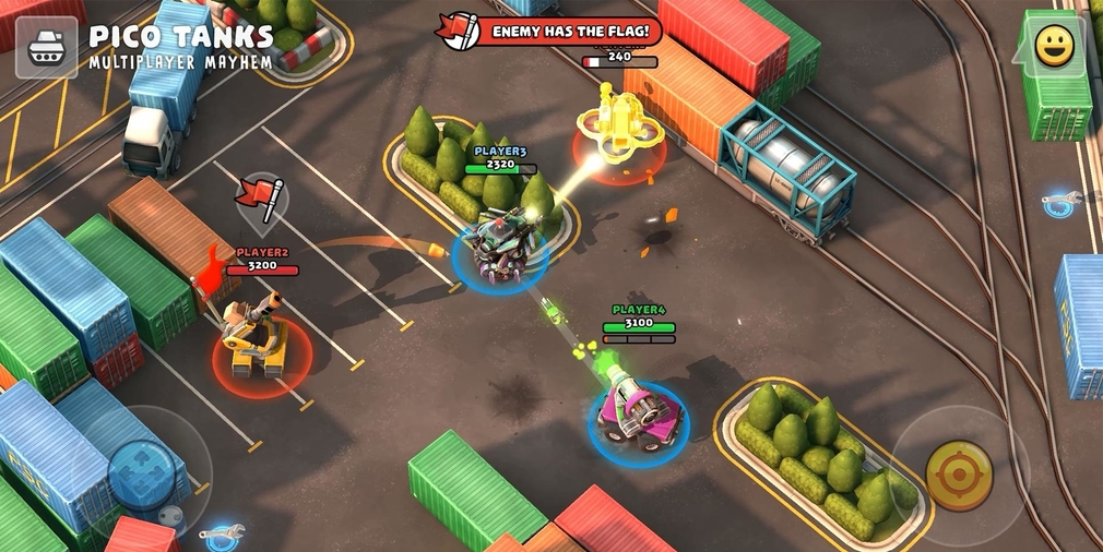 Pico Tanks is a multiplayer team arena shooter where up to six players fight it out as cute, customisable tanks
