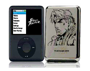 Street Fighter engraved iPod hits the streets
