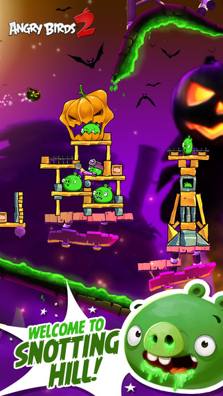 Angry Birds 2 gets slippy, snotty, and spooky with its 20 new levels