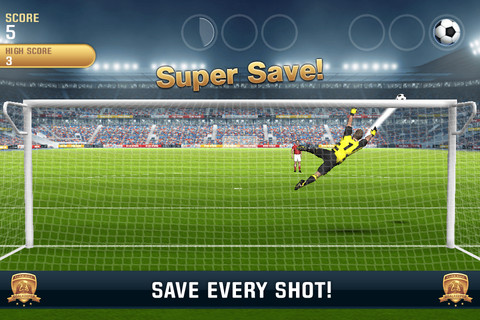 Flick Kick Goalkeeper saves the match on iPhone and iPad