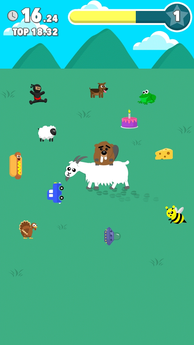 Goat Rider is the next barmy game from the people who made Mikey Shorts