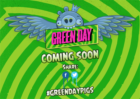 Green Day to rock out with green pigs in Angry Birds Friends