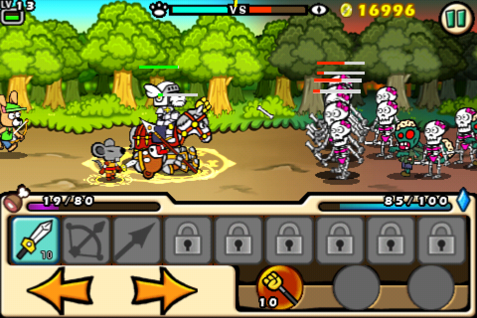Gold Award-winning iPhone castle defence game Paladog! updated with extra playable character and new game mode