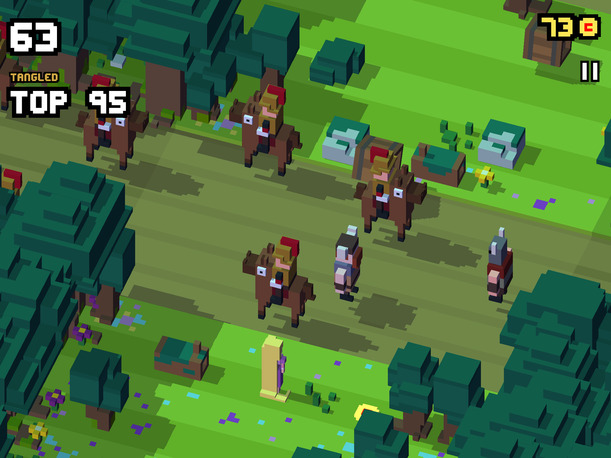 Disney Crossy Road - Why did the mouse, the princess, and the toy cowboy cross the road?