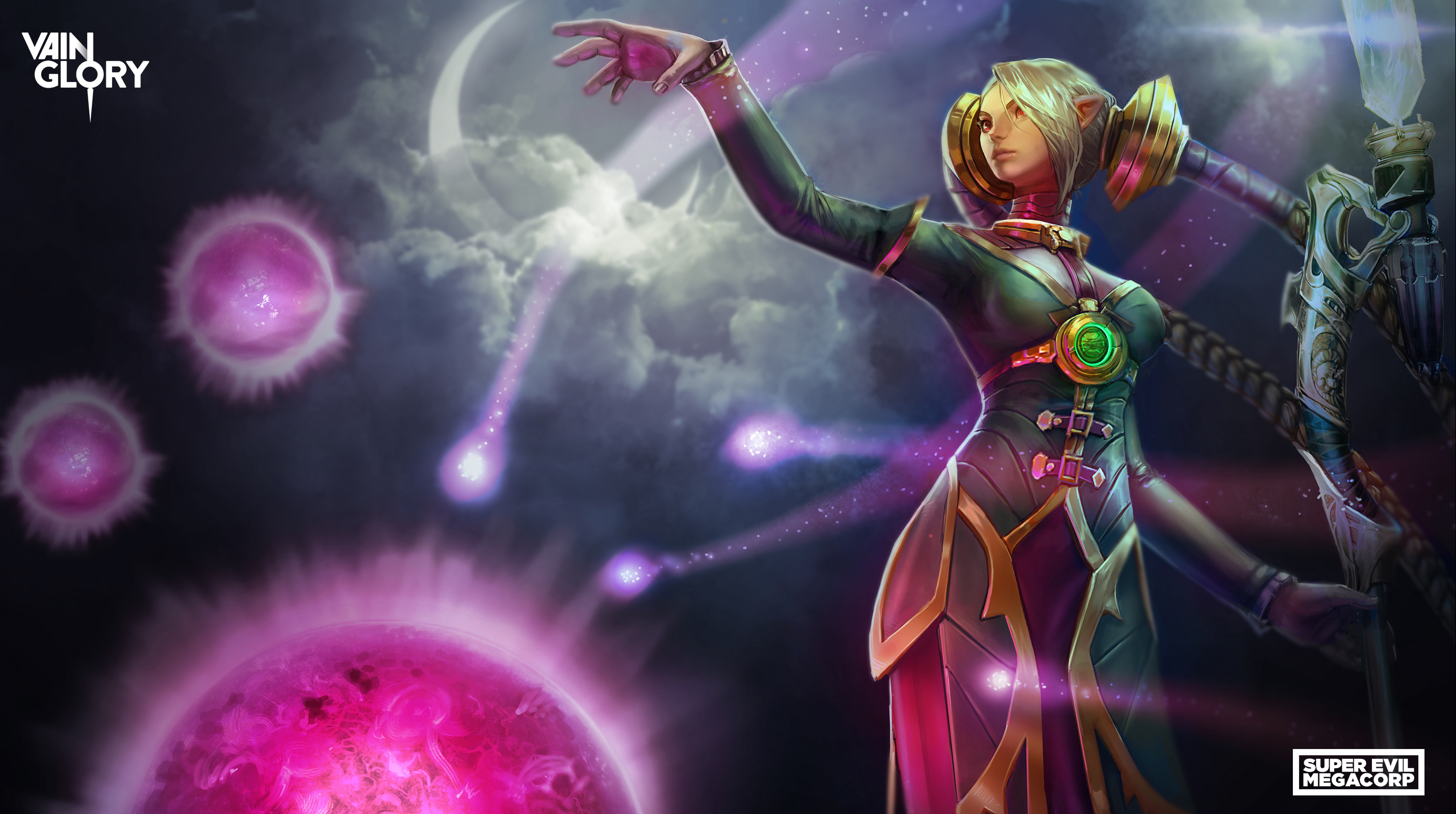Vainglory's newest character Celeste launches a storm of stars across the world at enemies