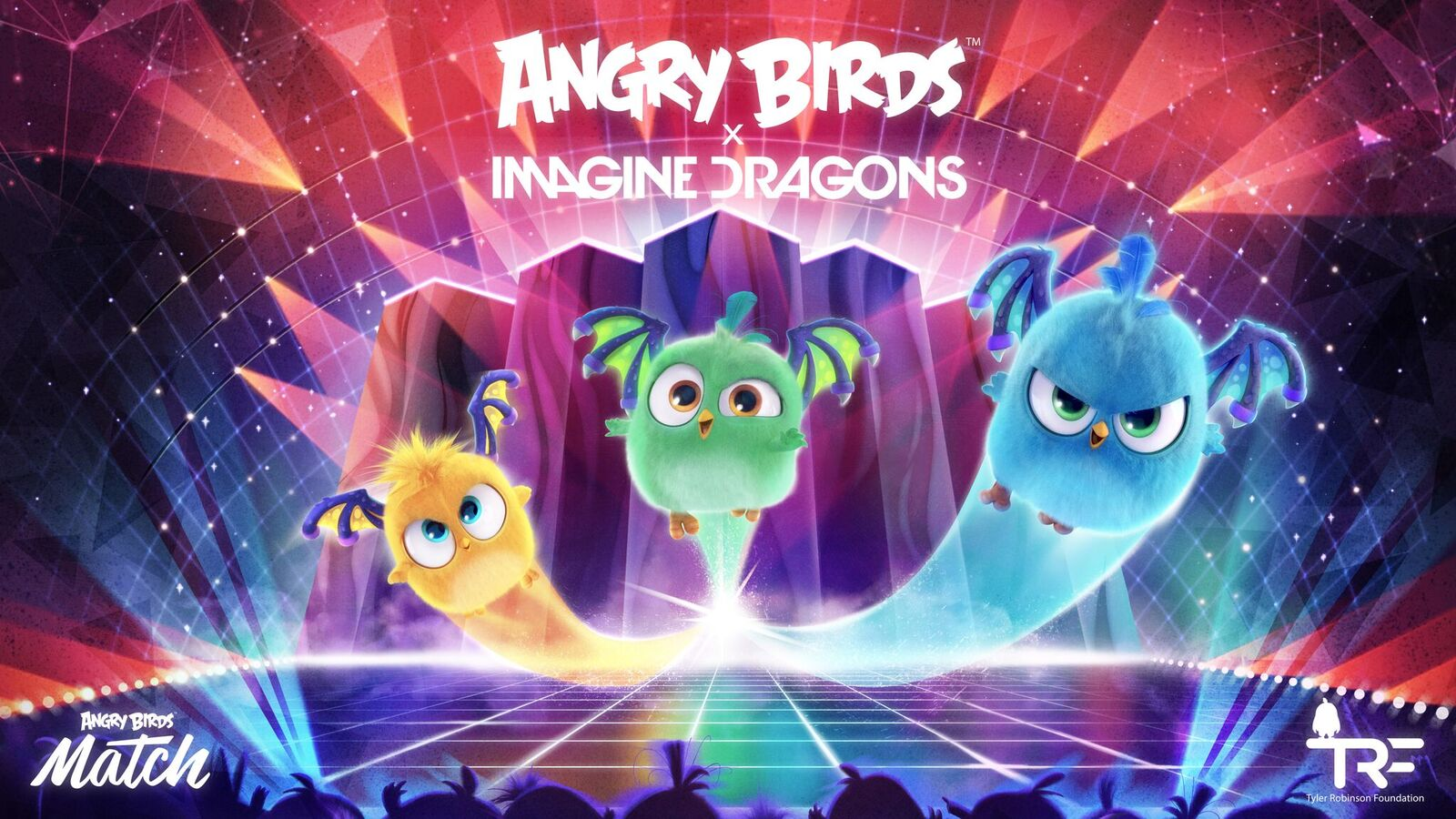 Angry Birds and Imagine Dragons come together in a charming collaboration