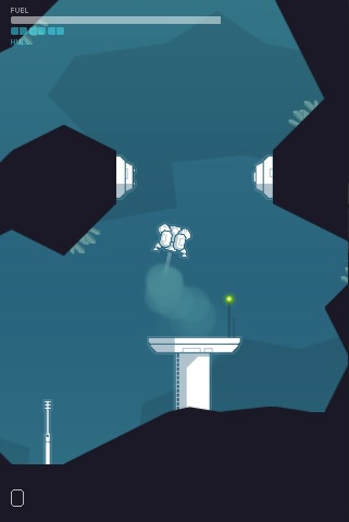 Cavernaut looks like an even more challenging take on Lunar Lander, heading to iOS