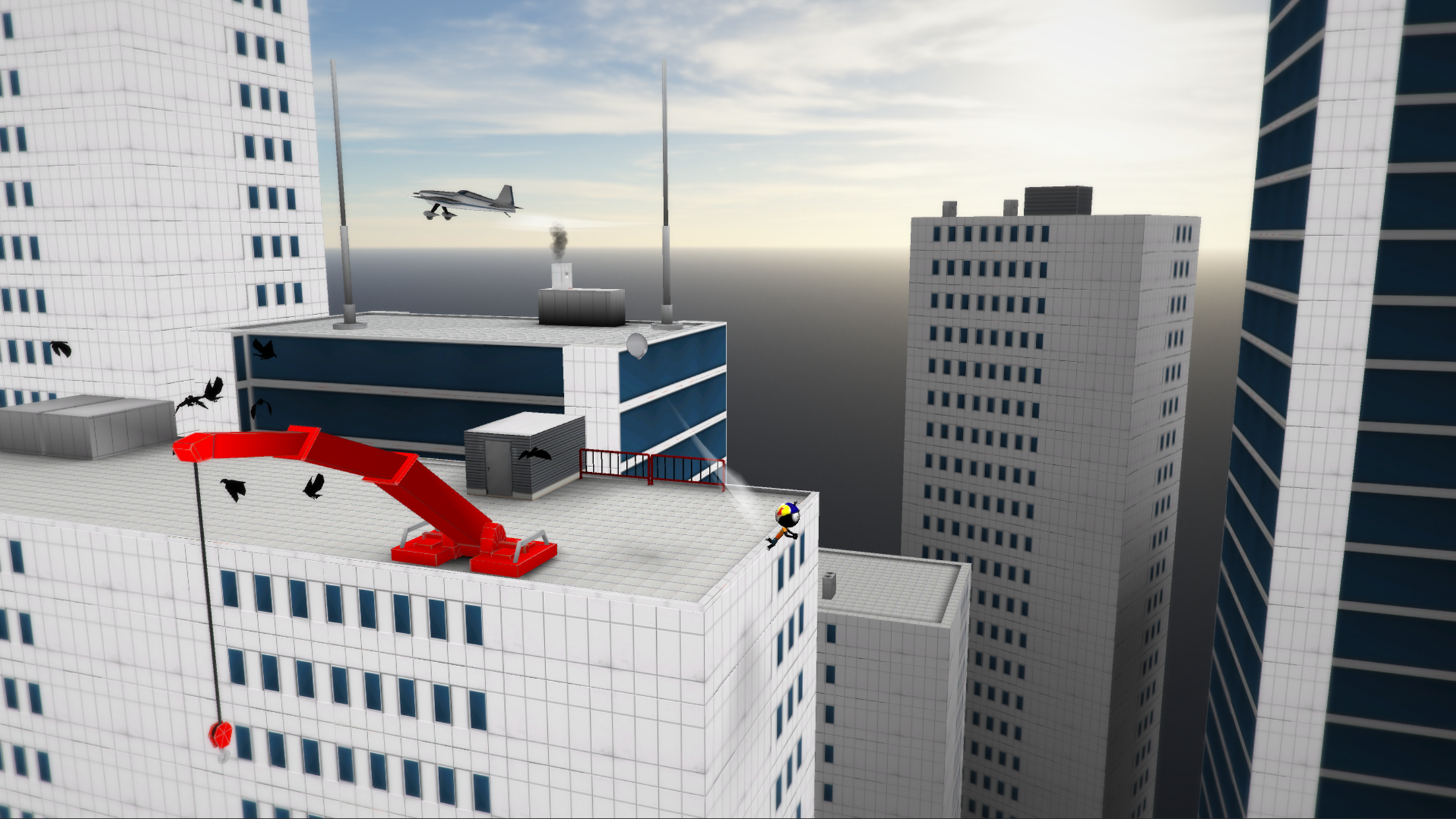 We spoke to Djinnworks to find out about their latest title Stickman Base Jumper 2
