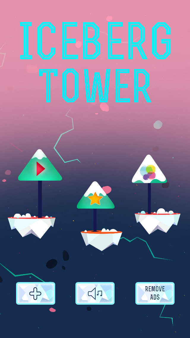 Iceberg Tower is a simple tower-building reaction tester that's out now on iPad and iPhone